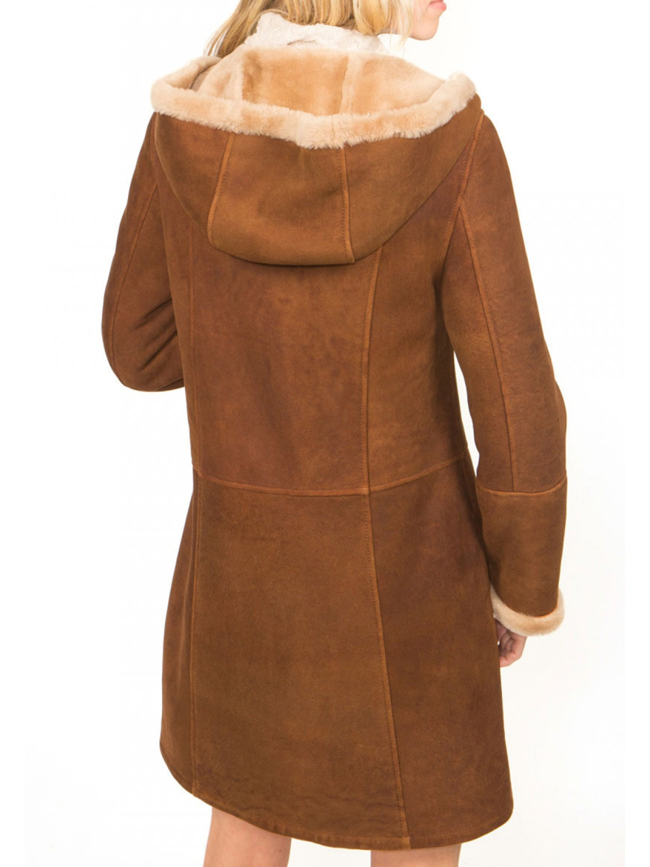 Women's Belle Hooded Shearling Coat