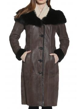Sorrel Shearling Coat