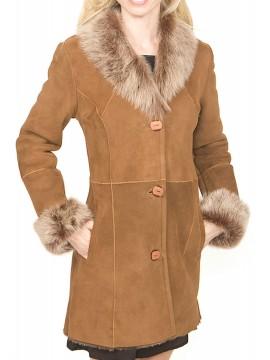 Lilac Shearling Coat