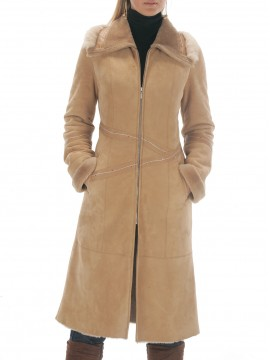 Scarlet Spanish Merino Shearling Coat