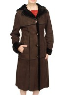Orchid Shearling Coat