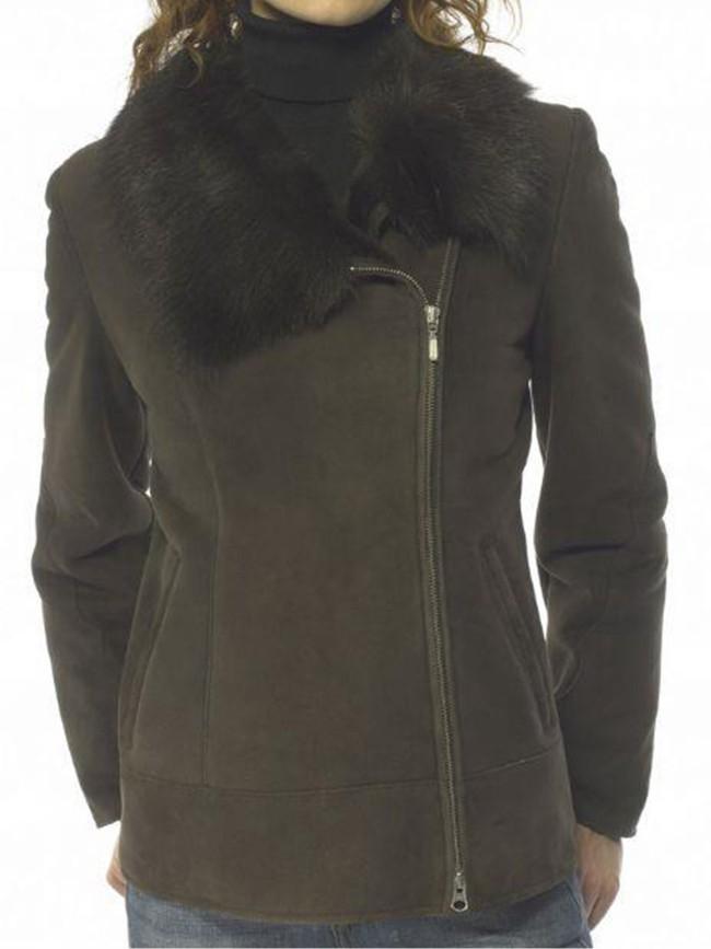 Viola Shearling Asymmetric Jacket