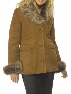 Hana Shearling Car Coat