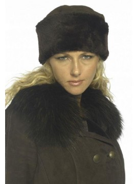Women's Shearling Pill Box Hat