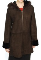Dolores Hooded Shearling Coat