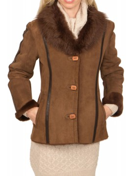 Petal Shearling Jacket