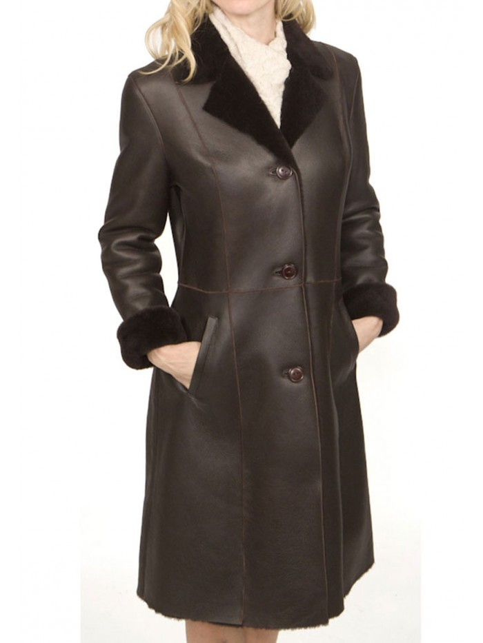 Francesca Shearling Car Coat