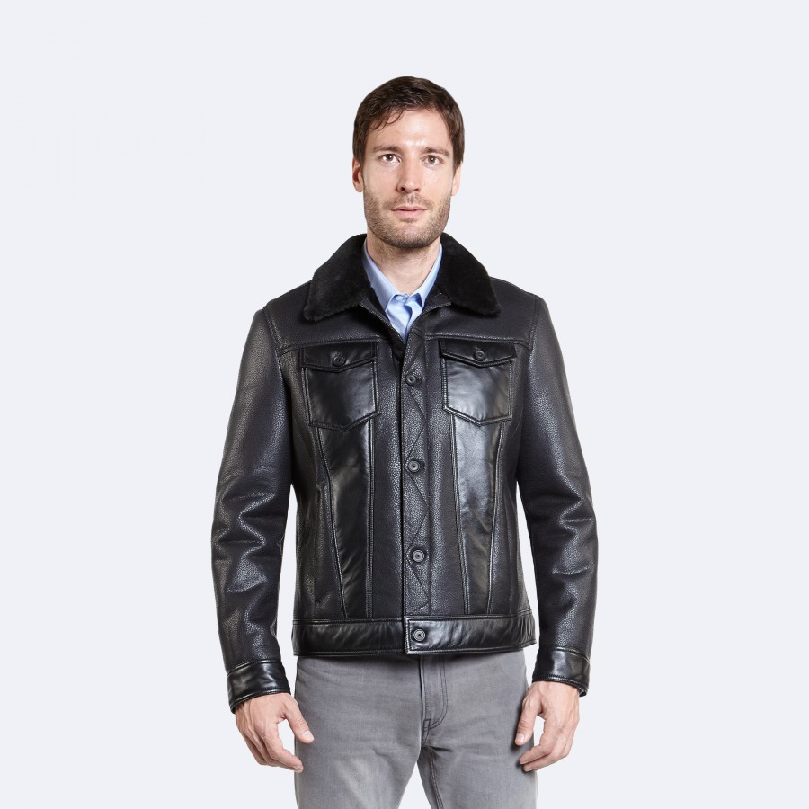 Calvin Sheepskin Jacket