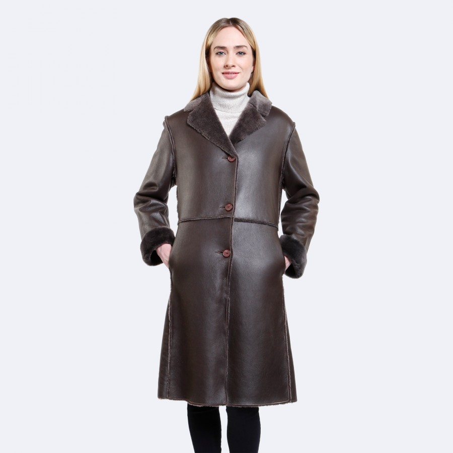 Sophia Sheepskin Coat