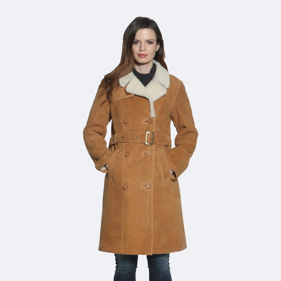 Mona Sheepskin Coat