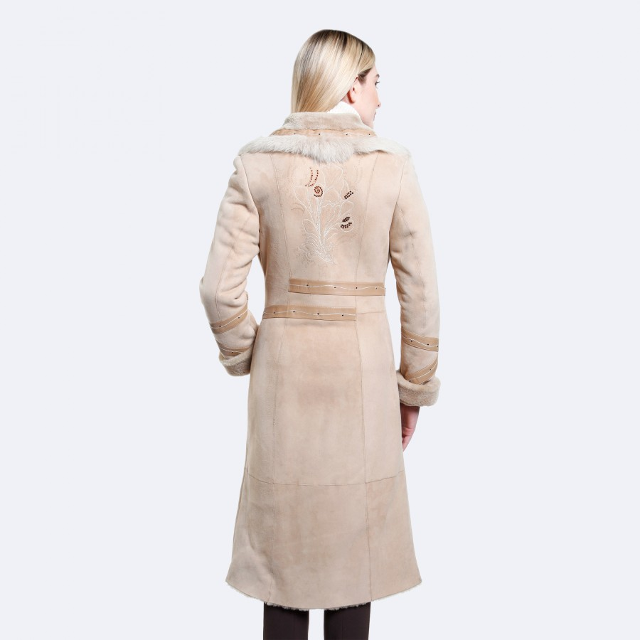 Ruby Sheepskin Coat