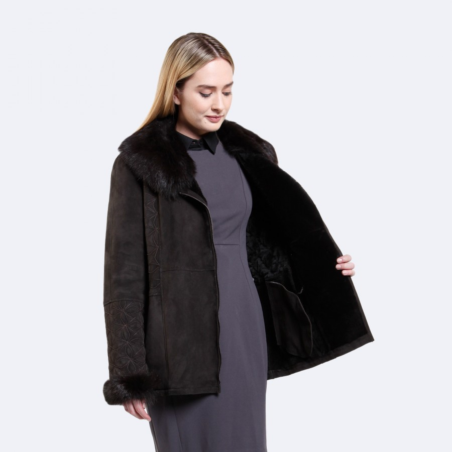 Sara Sheepskin Jacket